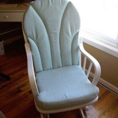Polka Dot Rocking Chair Cushions Oversized Dining Chairs {blending Beautiful} » Before And After: Makeover