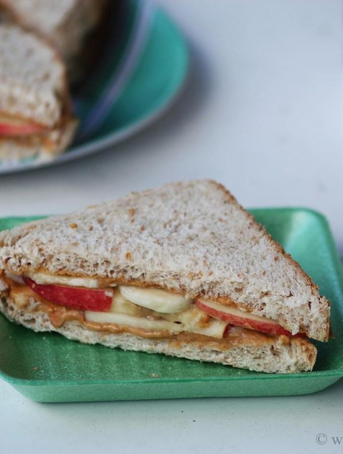 Peanut Butter Apple Banana Sandwich Recipe – Easy Sandwich Recipes
