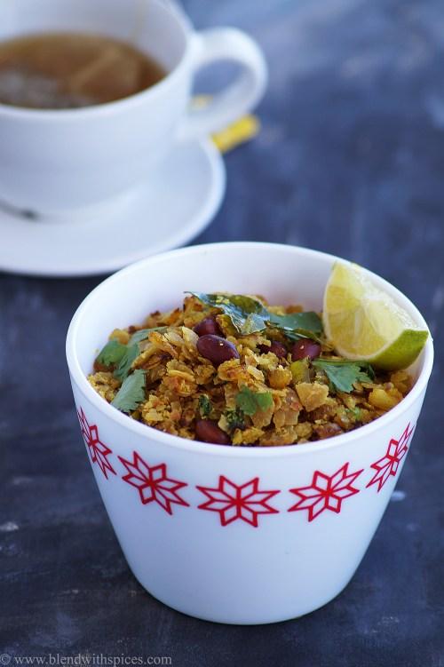 how to make roti poha, kanda poha with leftover chapatis