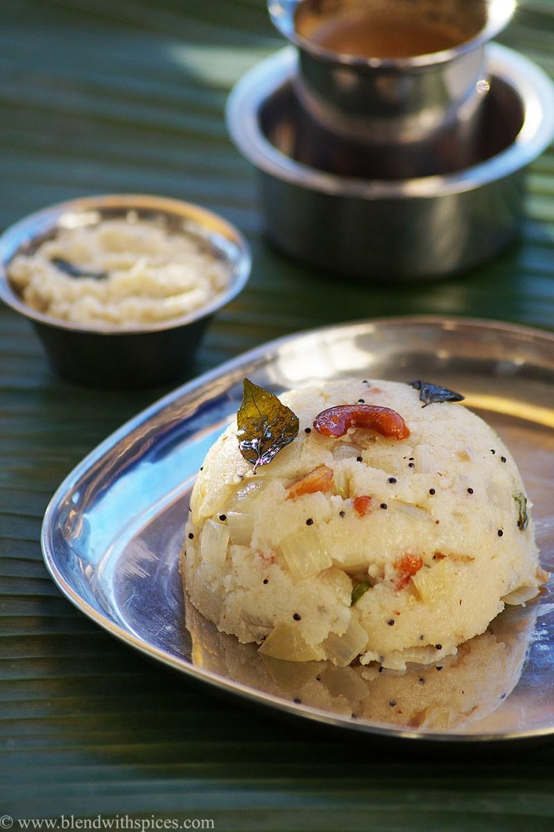 Upma Recipe - How to Make South Indian Rava Upma Recipe {Video}