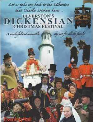 A step back in time: visit the Ulverston Dickensian Christmas Festival. (Poster facsimile courtesy of http://www.discoverulverston.co.uk/ulverston-dickensian-christmas-festival-2013.)