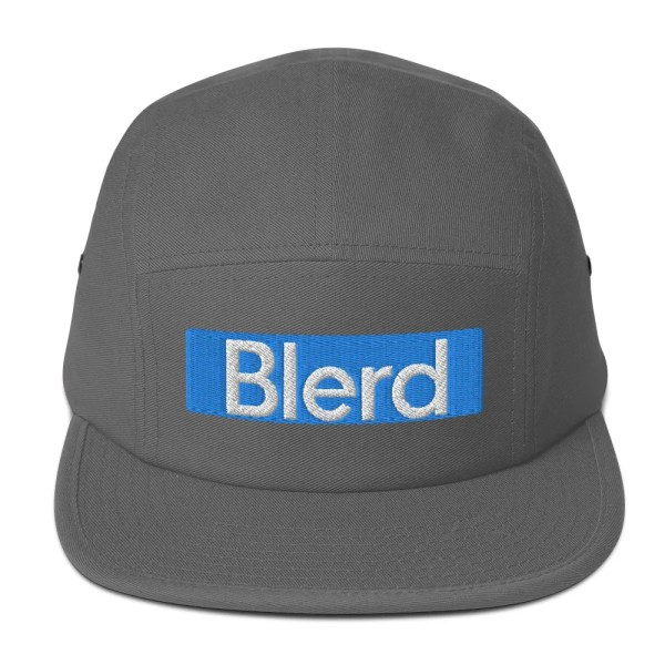 Blerd Blue Five Panel Cap