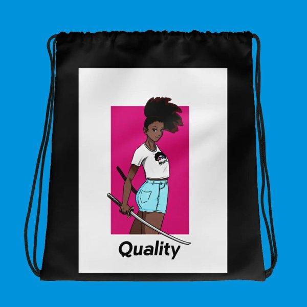 blerd quality drawstring bag