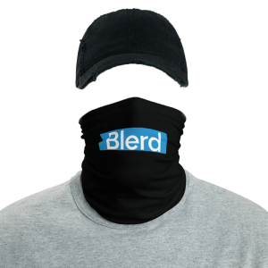 blerd blue face mask mockup
