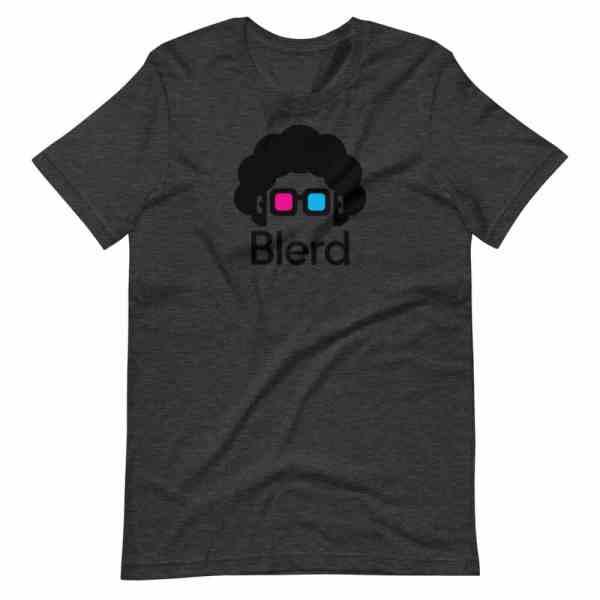 Blerd Shirt - Classic Logo - Grey
