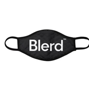 Blerd Face Mask - Classic Text