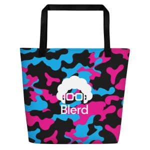 Blerd Camo Beach Bag 1
