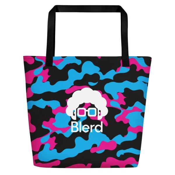 Blerd Camo Beach Bag