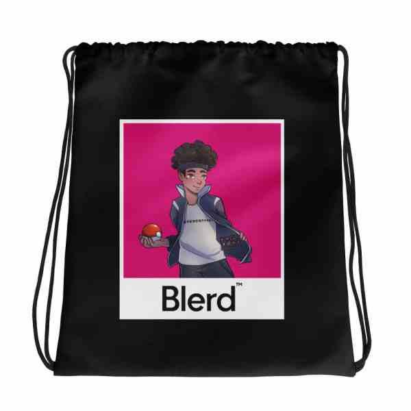 Blerd Gaming Poke Trainer Drawstring bag