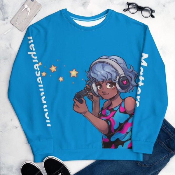 Blerd Gamer Girl Sweatshirt Front