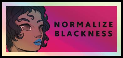 normalize blackness sticker