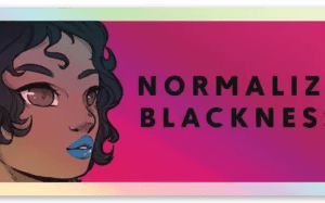 normalize blackness sticker