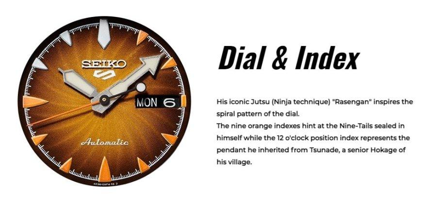 Naruto Seiko Watch Collection Dial