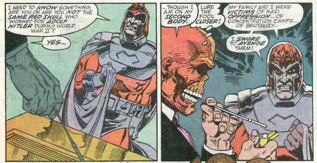 Magento conversing with the Red Skull