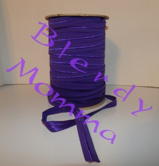 purple fold over elastic