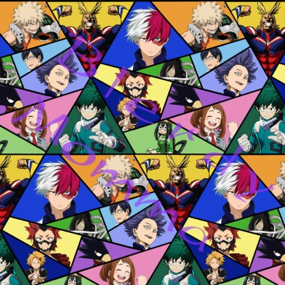 my hero academia fabric