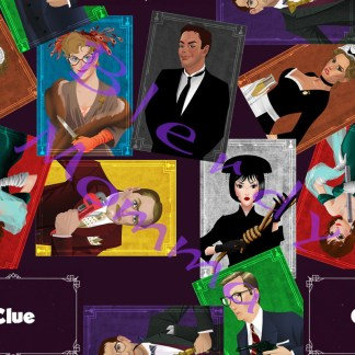 Clue mystery movie fabric