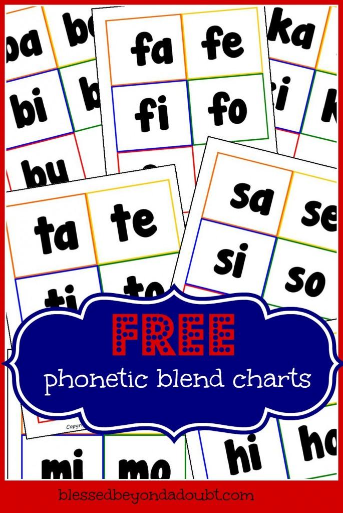 Abeka Phonics Charts Printables