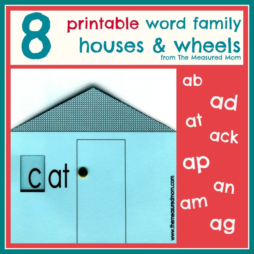 Free Short A Printable Word Family Houses And Wheels