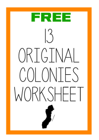 FREE Original 13 Colonies Labeling Worksheet - Blessed ...