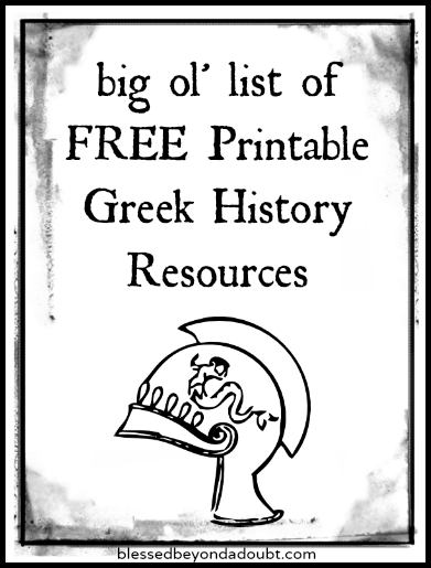 Free Ancient Greece Printables for Your Homeschool History