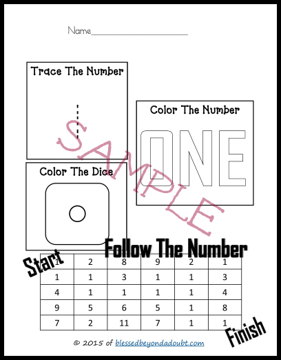 FREE Easy Math Worksheets that goes up to 10.