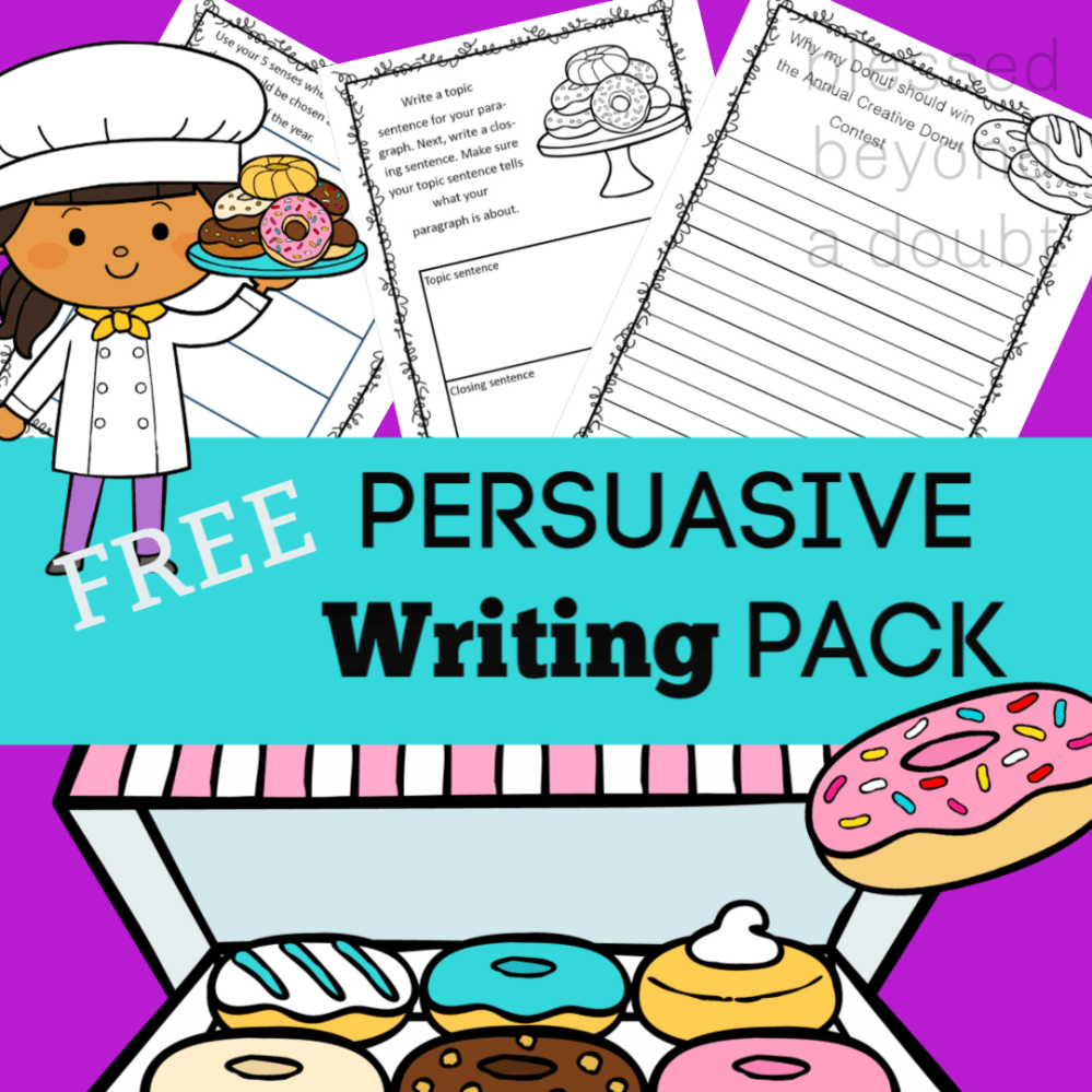 medium resolution of Free Persuasive Writing Packet - The Annual Creative Donut Contest -  Blessed Beyond A Doubt