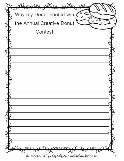 small resolution of Free Persuasive Writing Packet - The Annual Creative Donut Contest -  Blessed Beyond A Doubt