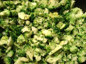 Sautéd broccoli cubes