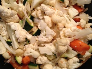 You don't have to bother cutting the veggies into small chunks.