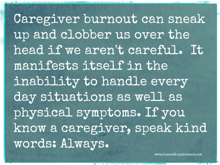 caregiver burnout