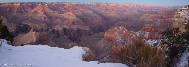 The Grand Canyon at sunset reveals the colors you'll never see during the day.