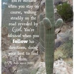 You're Blessed in Unexpected Ways When You Follow
