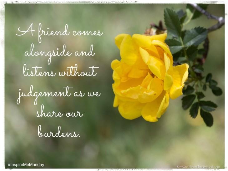 A true friend comes alongside