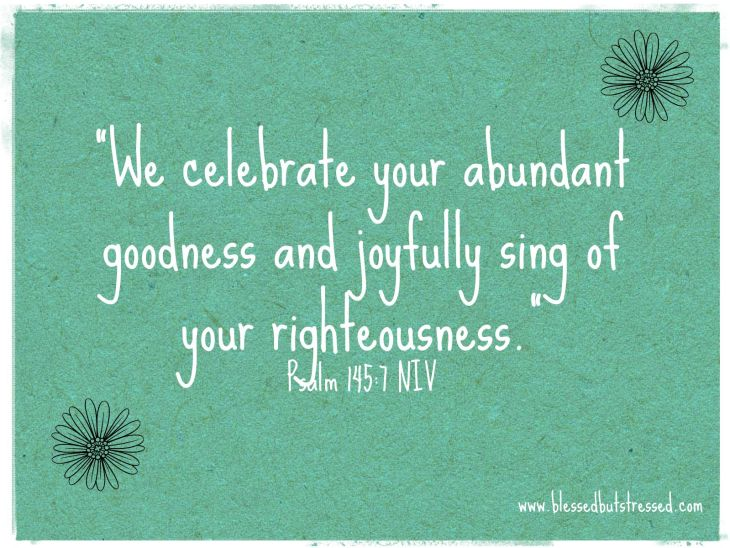 Celebrate the abundance of God's grace