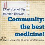 Community Caregiving – the best medicine
