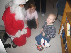 Andrew was filled with Christmas cheer because Santa remembered him!