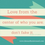 Learning to Love From the Center of Who I Am