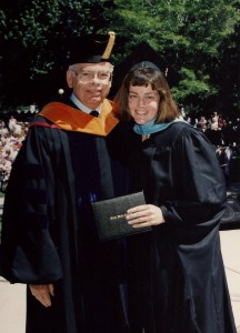 My dad got to hand me my Master's Degree Diploma, years ago. What a special moment for us both!