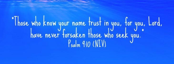 God will never forsake you