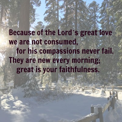 God's grace means we get a new start every day