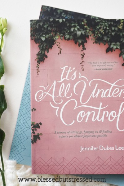 Caregivers know the ache of the waiting room. These words from Jennifer Dukes Lee will comfort and challenge you. #caregiver, #amreading, #itsallundercontrol