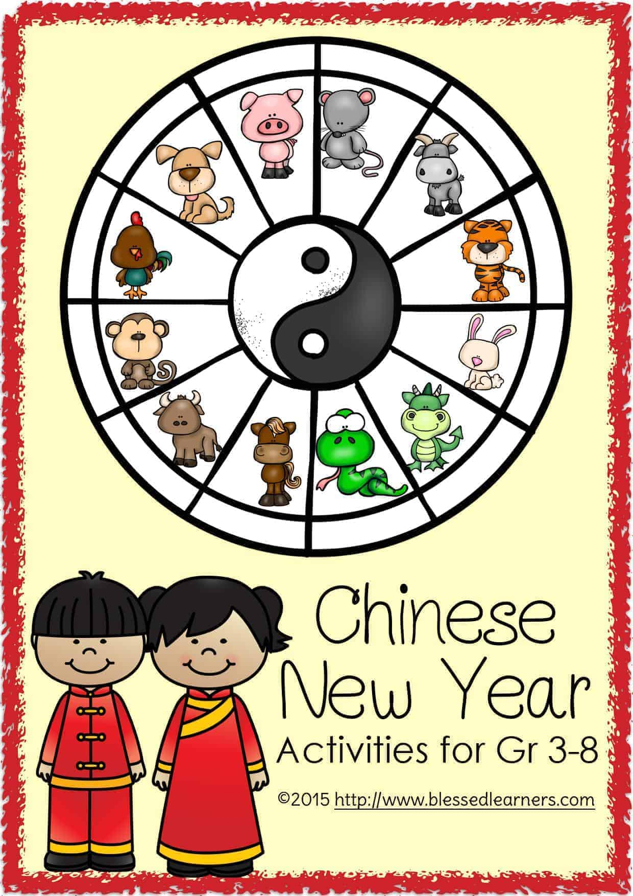Chinese New Year Unit Activities For Gr 3