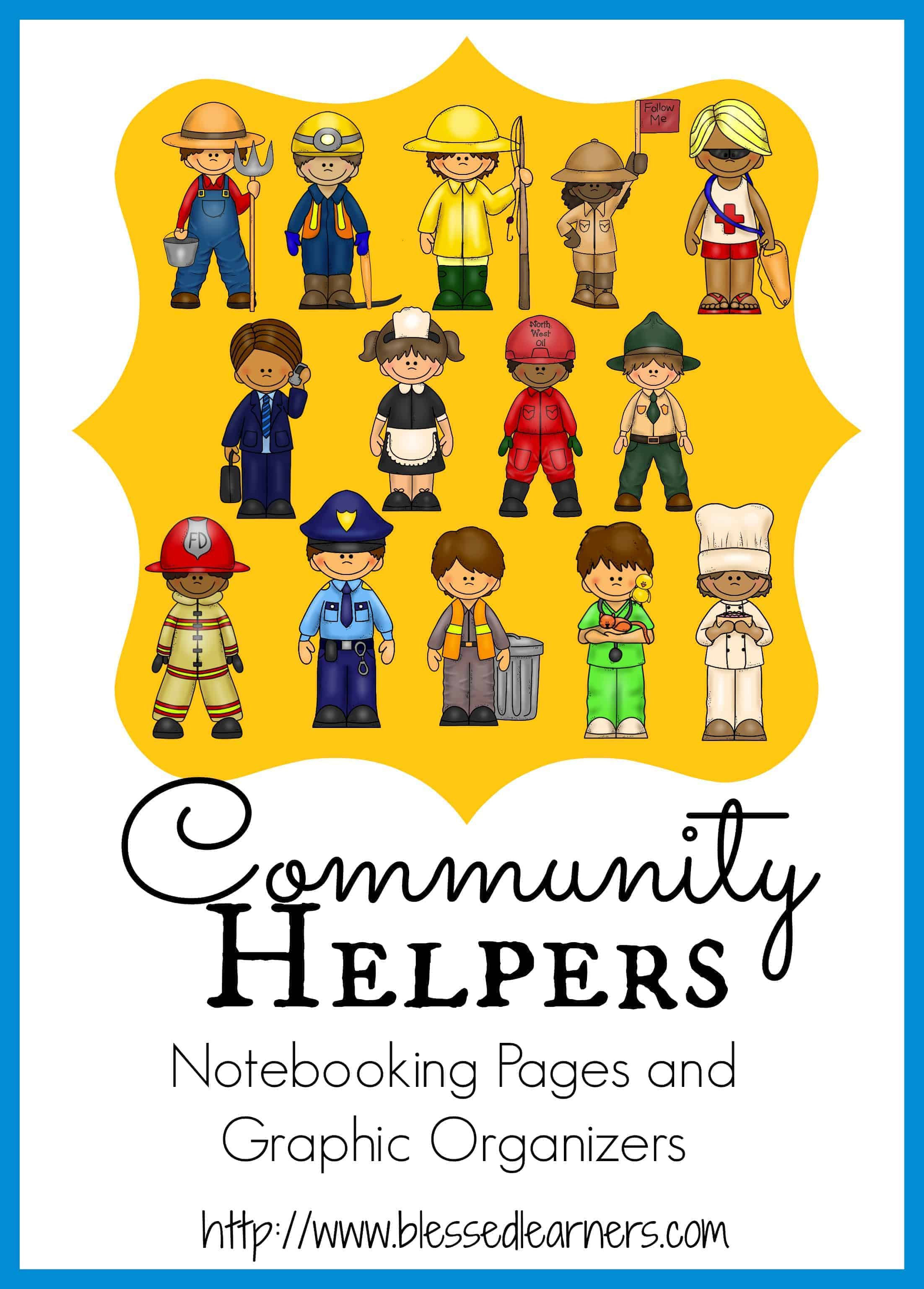 Community Helpers Notebooking Pages And Graphic Organizers