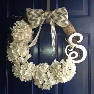 Project: DIY Initial Wreath
