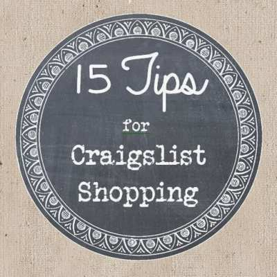 15 Tips for Craigslist Savvy Shopping