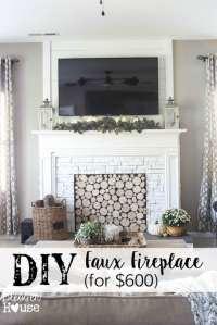 DIY Faux Fireplace Entertainment Center: Part One