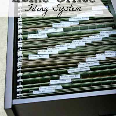 Organizing the Most Thorough Home Office Filing System