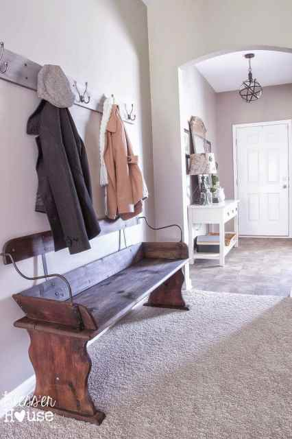 Bless'er House | Beginnings of an Entryway: How to Restore Reclaimed Wood