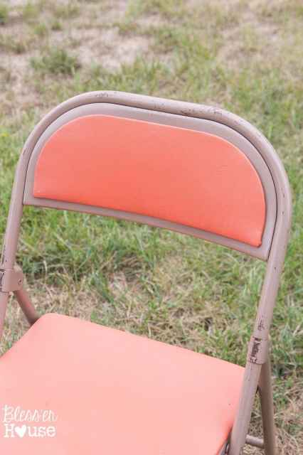 Bless'er House | Easy Grainsack Style Folding Chair Makeover